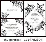 vintage delicate invitation... | Shutterstock .eps vector #1119782909
