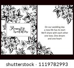 vintage delicate invitation... | Shutterstock .eps vector #1119782993