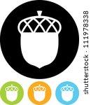 acorn   vector icon isolated | Shutterstock .eps vector #111978338