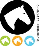 Stock vector horse head vector icon isolated 111978440