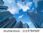 low angle of high rise business ... | Shutterstock . vector #1119784589