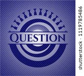 question emblem with jean... | Shutterstock .eps vector #1119785486