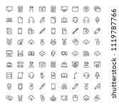 online education icon set.... | Shutterstock .eps vector #1119787766