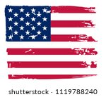 grunge flag of usa.vector... | Shutterstock .eps vector #1119788240