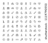 oncology icon set. collection... | Shutterstock .eps vector #1119790553