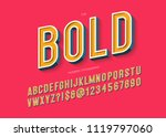 bold modern typography colorful ... | Shutterstock .eps vector #1119797060