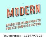 modern typeface 3d typography... | Shutterstock .eps vector #1119797123