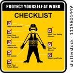 checklist  protect yourself at... | Shutterstock .eps vector #1119801449
