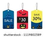 halloween tags isolate  vector | Shutterstock .eps vector #1119802589