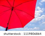 red sunshade umbrella on the sky | Shutterstock . vector #1119806864