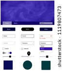 dark purple vector ui kit with...