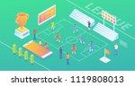 modern wide ultra hd screen... | Shutterstock .eps vector #1119808013