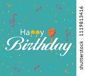 happy birthday ribbon candy...   Shutterstock .eps vector #1119813416
