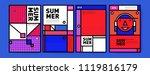 summer colorful poster design... | Shutterstock .eps vector #1119816179