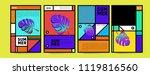 summer colorful poster design... | Shutterstock .eps vector #1119816560