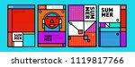 summer colorful poster design... | Shutterstock .eps vector #1119817766