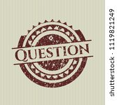 red question rubber stamp | Shutterstock .eps vector #1119821249