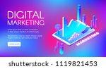 digital marketing vector... | Shutterstock .eps vector #1119821453