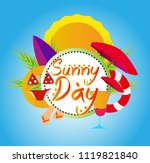 sunny day  vector beautiful... | Shutterstock .eps vector #1119821840
