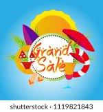 grand sale  vector beautiful... | Shutterstock .eps vector #1119821843