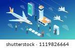 modern wide ultra hd screen...   Shutterstock .eps vector #1119826664
