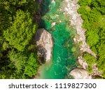 valle verzasca   aerial view of ... | Shutterstock . vector #1119827300