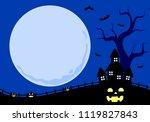 halloween background  vector | Shutterstock .eps vector #1119827843
