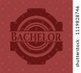 bachelor retro red emblem | Shutterstock .eps vector #1119828746