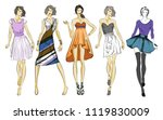 stylish fashion models. pretty... | Shutterstock . vector #1119830009