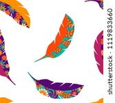 feathers repeated pattern.... | Shutterstock .eps vector #1119833660