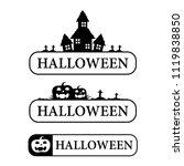 graphic halloween  vector | Shutterstock .eps vector #1119838850