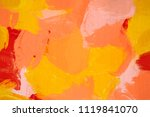 oil painting. abstract art... | Shutterstock . vector #1119841070