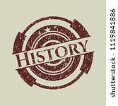 red history distressed with... | Shutterstock .eps vector #1119841886