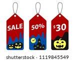 halloween tags isolate  vector   Shutterstock .eps vector #1119845549