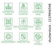 vector set of design elements ...   Shutterstock .eps vector #1119846548