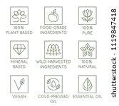 vector set of design elements ... | Shutterstock .eps vector #1119847418