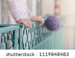 the woman stands alone on the...   Shutterstock . vector #1119848483
