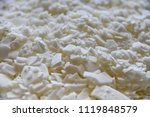 close up of white soy wax... | Shutterstock . vector #1119848579