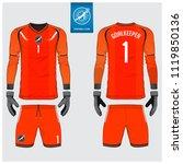 orange goalkeeper jersey or... | Shutterstock .eps vector #1119850136