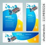 mining crypro template. set... | Shutterstock .eps vector #1119850226