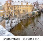 impression of the czech capital ... | Shutterstock . vector #1119851414