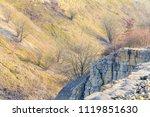 overgrown hillslope and rock... | Shutterstock . vector #1119851630