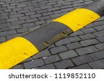 yellow and black striped cable... | Shutterstock . vector #1119852110