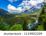 beautiful mountain scenery and... | Shutterstock . vector #1119852209