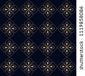 simple floral geometric design... | Shutterstock . vector #1119858086