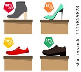 sale of shoes  shoes are on... | Shutterstock .eps vector #1119859823