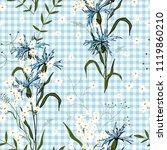 retro wild seamless flower... | Shutterstock .eps vector #1119860210