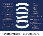 set of vector graphic elements... | Shutterstock .eps vector #1119863078
