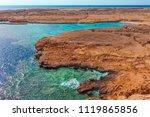red sea coast shore in the ras... | Shutterstock . vector #1119865856