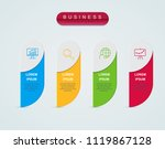 business infographic template...   Shutterstock .eps vector #1119867128